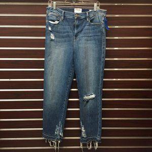 Frame Denim Le High Straight Jeans, sz 33